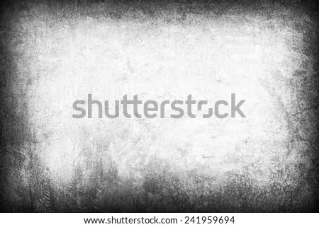 Grunge frame -Gray Grunge wallpaper with space for your design  - stock photo