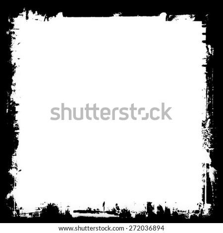 grunge frame, white background - stock photo