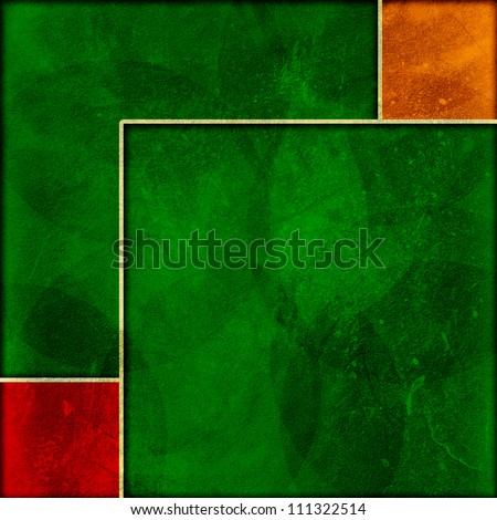 Grunge frame with a colorful background. - stock photo