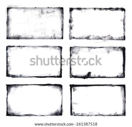 grunge frames set - stock photo