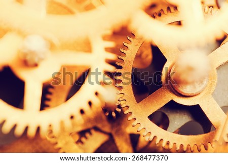 Grunge gear, cog wheels background. Concept of industrial, science, clockwork, technology.  - stock photo