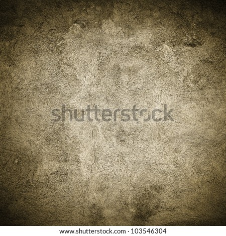 Grunge gold concrete wall background or texture - stock photo