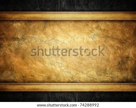 grunge golden background - stock photo