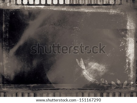 Grunge graphic abstract background with black film digital - stock photo