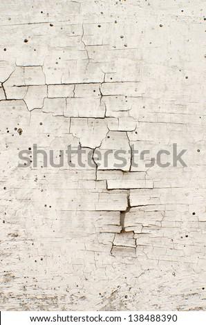 Grunge gray crack background - stock photo