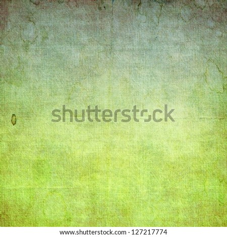 Grunge green abstract texture background - stock photo