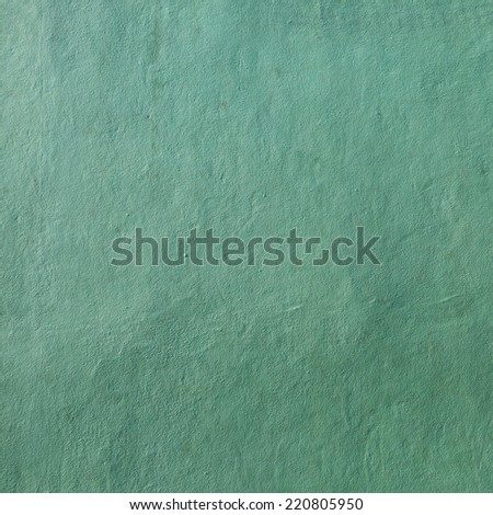 grunge green plaster walls - stock photo