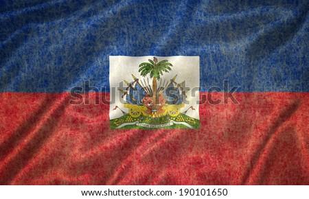 Grunge Haiti Flag - stock photo