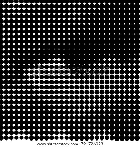 Grunge halftone black and white dots texture background. Spotted Abstract Texture