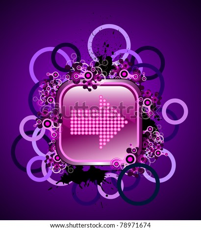 Grunge & hi-tech navigation buttons for web. Raster version. - stock ...