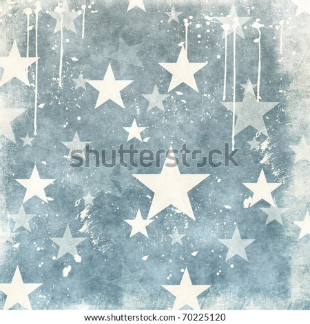 grunge illustration with stars