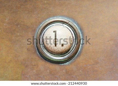 Grunge image of a button from the control area - 1 - stock photo
