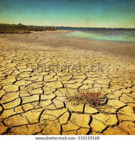 Grunge image of drought land.  - stock photo