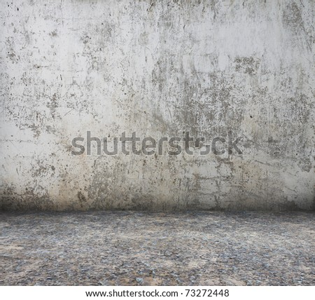 grunge interior, old dirty wall - stock photo