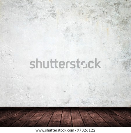grunge interior used as background. - stock photo