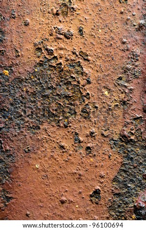 grunge iron rust texture background - stock photo