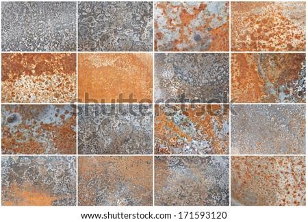 Grunge iron rust  texture, old steel corrosion background - stock photo