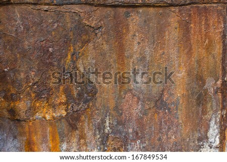 Grunge iron rust texture, old steel corrosion for background  - stock photo