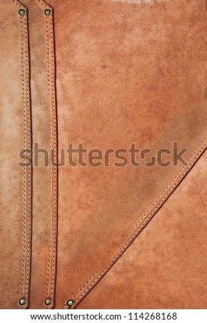 Grunge leather background. Leather texture and belt