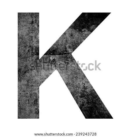 Grunge letter isolated on white background