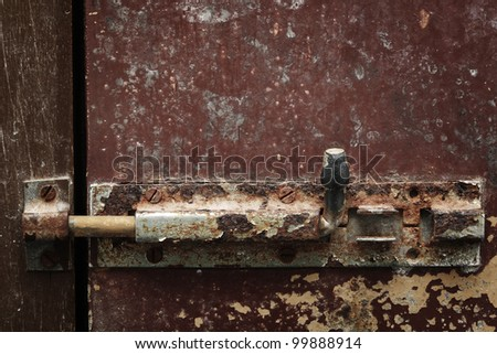 grunge lock door. - stock photo