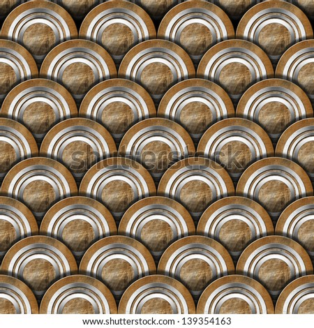 Grunge Metal Circles Background / Grunge Texture or background with metal gray and brown circles