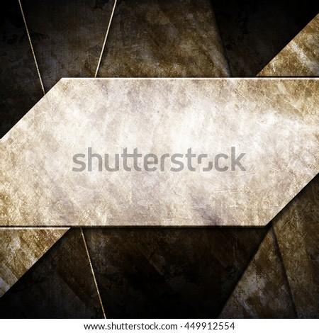 grunge metal design background - stock photo