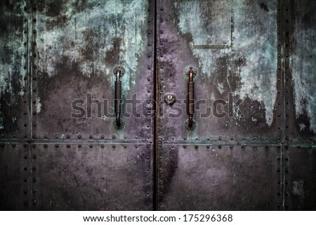 Grunge Metal Door Background