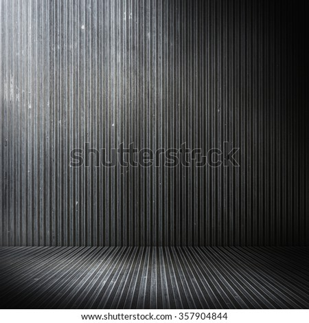 grunge metal empty room - stock photo