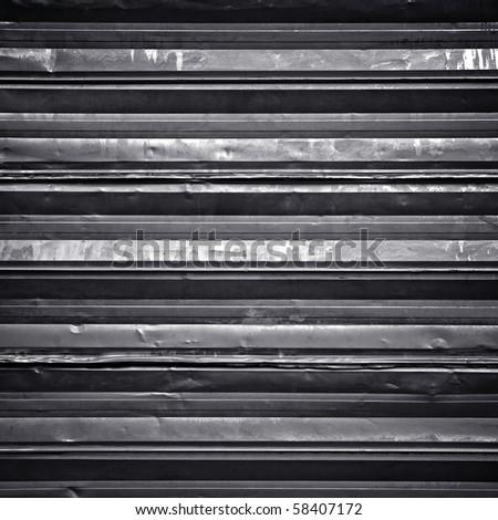 grunge metal fence - stock photo