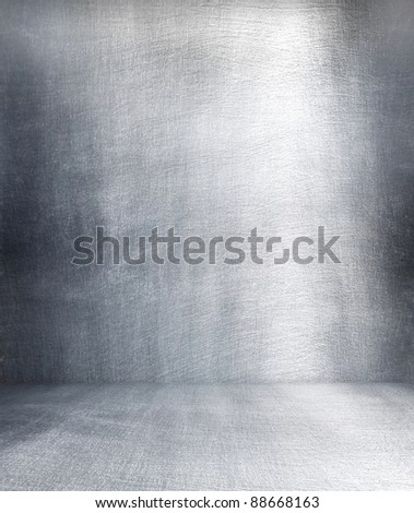 Grunge metal interior. - stock photo