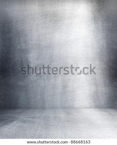 Grunge metal interior. - stock photo