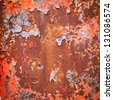 grunge metal rusty surface texture - stock photo