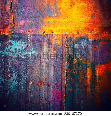 grunge metal texture, rust background - stock photo