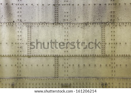 Grunge metal wall as background or texture - stock photo