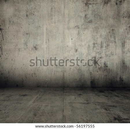 grunge metallic interior - stock photo
