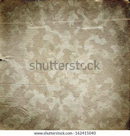 Grunge military background. Camouflage pattern on a paper texture - stock photo