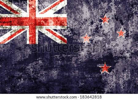 Grunge New Zealand Flag  - stock photo
