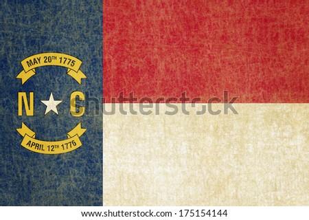 Grunge North Carolina state Flag - stock photo