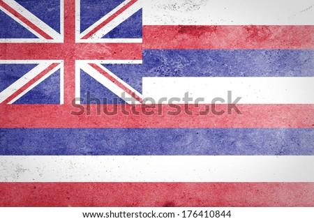 Grunge of Hawaii Flag  - stock photo