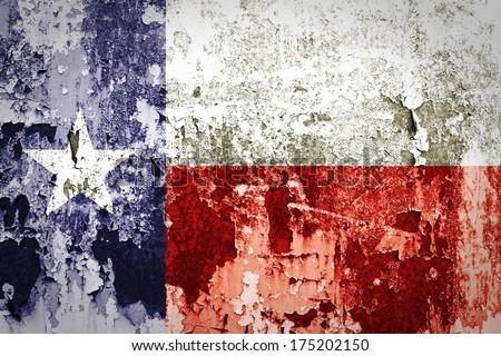 Grunge of Texas flag  - stock photo