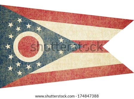 Grunge Ohio state Flag - stock photo