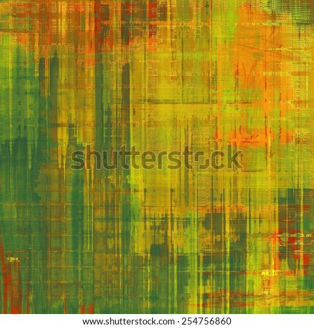 Grunge old-fashioned background with space for text or image. With different color patterns: yellow (beige); brown; red (orange); green - stock photo
