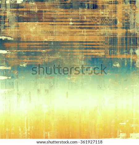 Grunge old-school texture, background for design. With different color patterns: yellow (beige); brown; white; blue - stock photo