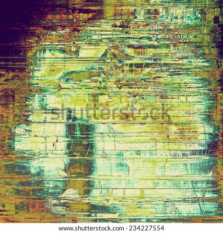 Grunge old-school texture, background for design. With different color patterns: yellow; brown; gray; green