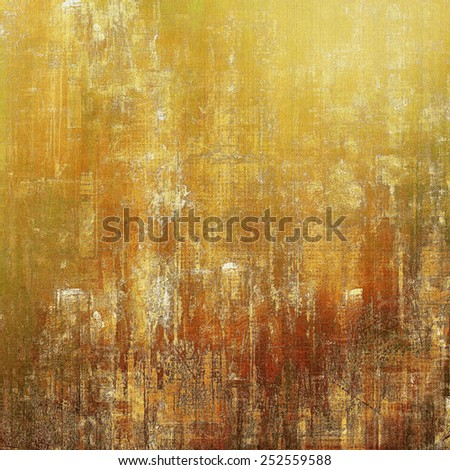 Grunge old texture as abstract background. With different color patterns: yellow (beige); brown; gray - stock photo