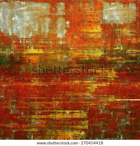 Grunge old texture as abstract background. With different color patterns: yellow (beige); brown; green; red (orange) - stock photo