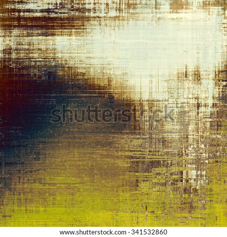 Grunge old texture as abstract background. With different color patterns: yellow (beige); brown; blue; gray - stock photo