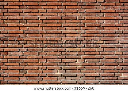 Grunge old urban brick wall as creative background