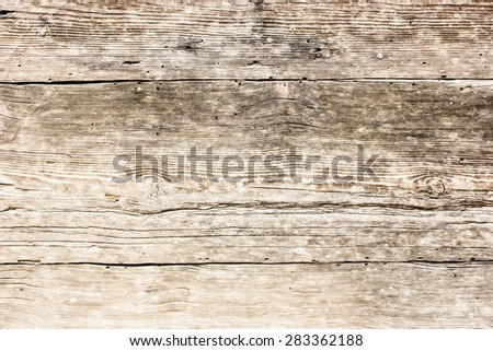 Grunge old weathered wood surface. - stock photo